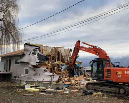 Demolition Project Of Wooden Hous